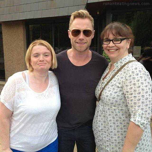 Tracy and Fiona with Ronan
